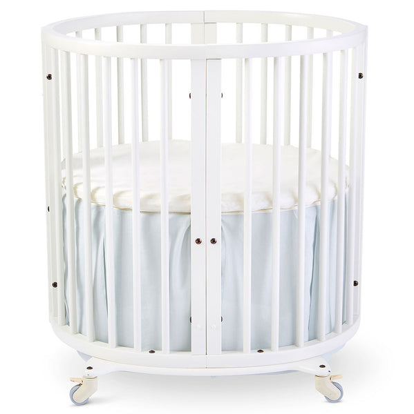Stokke Sleepi Mini Crib Bed Skirt infant baby  light blue mist