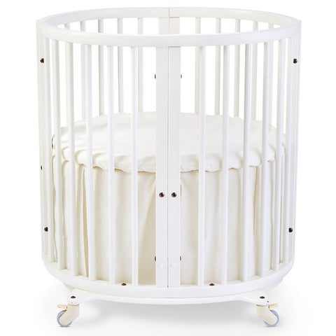Stokke Sleepi Mini Crib Bed Skirt infant baby natural beige