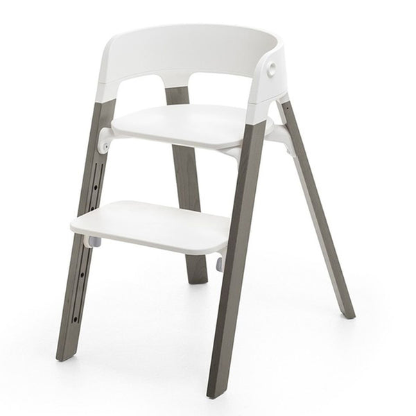 Stokke Children's Steps Chair Seat & Legs Bundle Set hazy grey dark