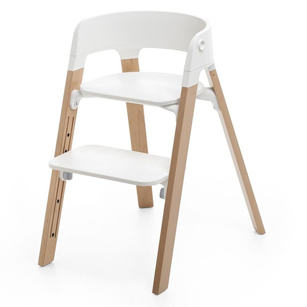 Stokke Children's Steps Chair Seat & Legs Bundle Set natural beige white