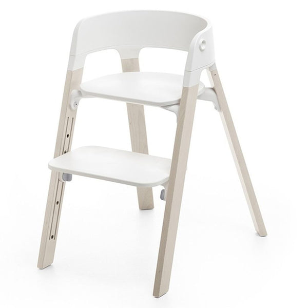 Stokke Children's Steps Chair Seat & Legs Bundle Set whitewash off-white beige