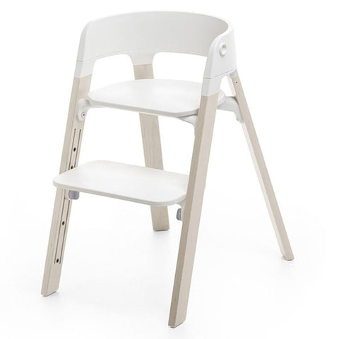 Stokke Steps High Chair bundle seat legs white-wash white