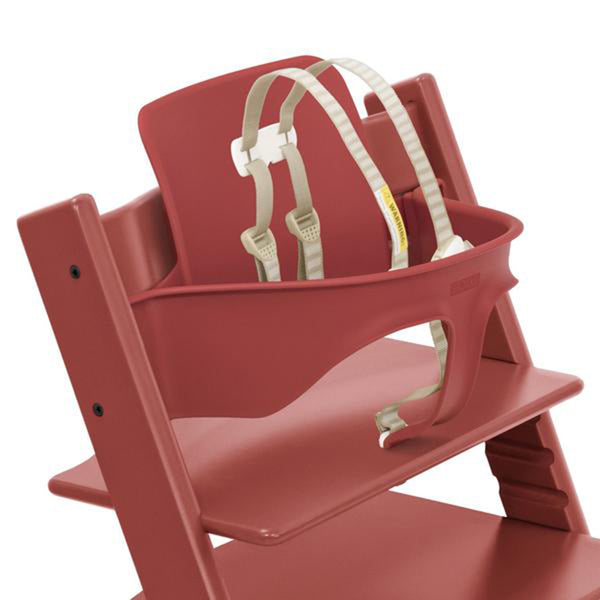 Outlet Stokke Ergonomic Tripp Trapp Chair Baby Set with Harness warm red matte