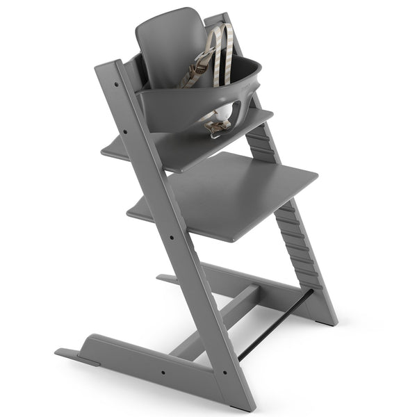 Stokke Wooden Adjustable Ergonomic Tripp Trapp High Chair storm grey