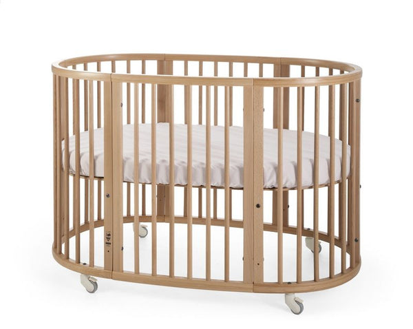 stokke oval sleepi crib bed mattress bundle comfortable evolvable height adjustable natural