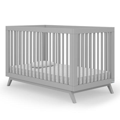 dadada Grey Soho 2-in-1 Convertible Crib to Toddler Bed Furniture