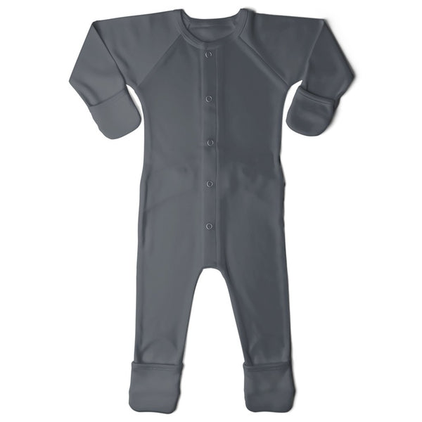 GoumiKids Infant Baby Organic GoumiAlls Convertible Footie Pajamas midnight dark blue