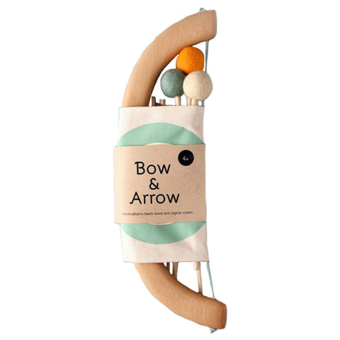 Tangerine Studio Bow & Arrow Set Children's Pretend Play Kit green