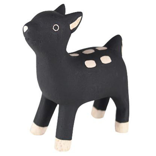T-Lab Polepole Wooden Animals Hand-Crafted Toys bambi black white spot