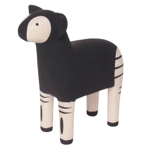 T-Lab Polepole Wooden Animals Hand-Crafted Toys okapi