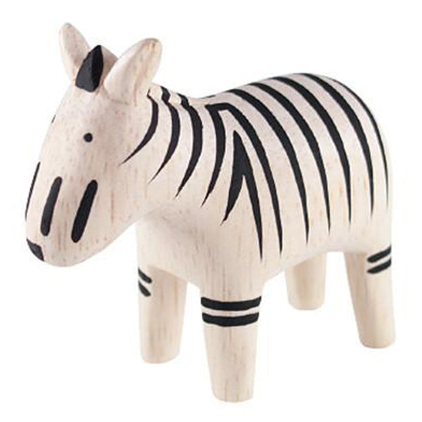 T-Lab Polepole Wooden Animals Hand-Crafted Toys zebra