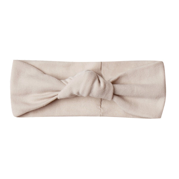 Quincy Mae Ribbed Organic Cotton Knot Turban Infant Baby Headband rose pink