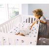 lifestyle_4, Little Unicorn Lightweight Breathable Cotton Muslin Fitted Crib Sheet
