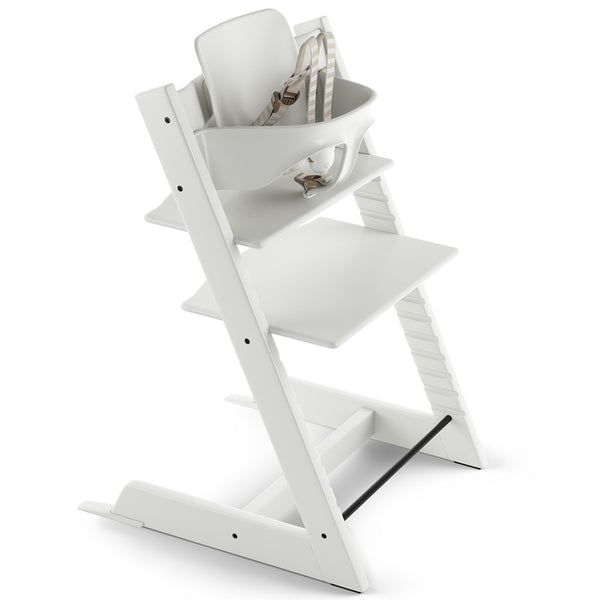 Stokke Wooden Adjustable Ergonomic Tripp Trapp High Chair white