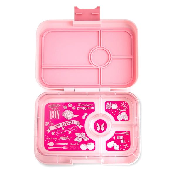 Yumbox Tapas Bento Lunch Box Food Container amalfi pink light 4 compartment