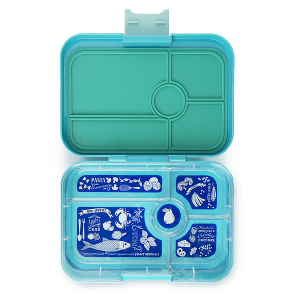 Yumbox Tapas Bento Lunch Box Food Container antibes blue light teal 5 compartment