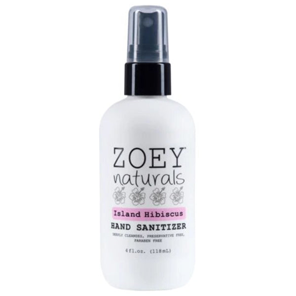 Zoey Naturals Hand Sanitizer Hypoallergenic Paraben & Phthalate-Free island hibiscus pink floral