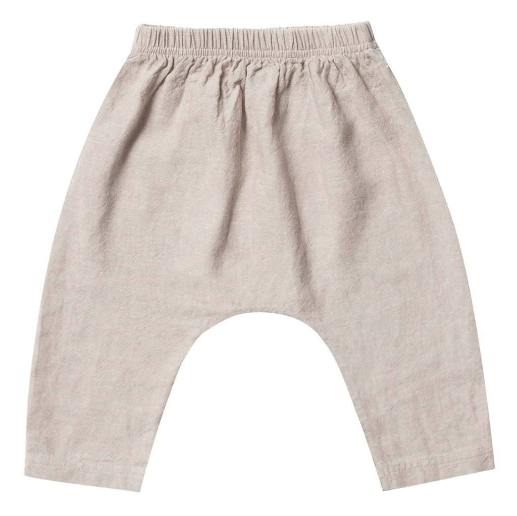 Rylee + Cru Baggy Harem Pants Infant Baby Clothing Bottoms flax brown beige light neutral