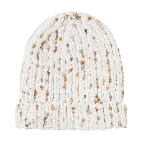 Rylee + Cru Sweater Knit Turn-Up Brim Infant Baby Beanie Hat Accessory wheat natural multicolored