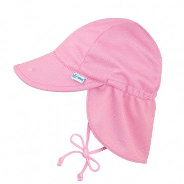 i Play Breathable Solid Flap Infant Baby Sun Protection & Swim Hat Light Pink