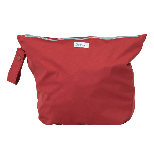 GroVia Cloth Diapering Wet Bags marsala red