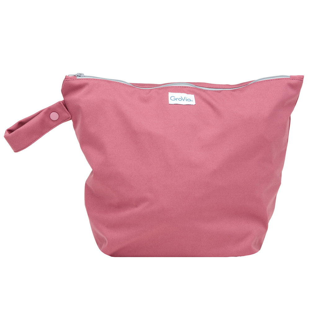 GroVia Cloth Diapering Wet Bags petal dark pink