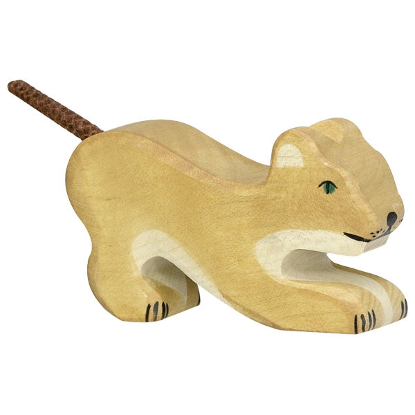 Holztiger Wooden Safari Animals Children's Toys small lion playing baby