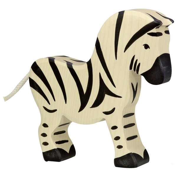 holztiger natural wooden childrens toy safari animal zebra black and white
