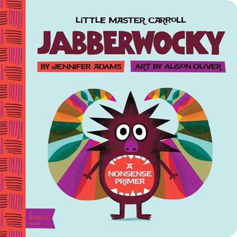 Little Master Carrol: Jabberwocky Board Book by Jennifer Adams multicolored non-sense primer