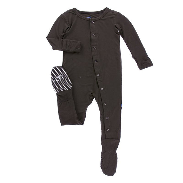 kickee pants footie pajama solid sleepwear bark