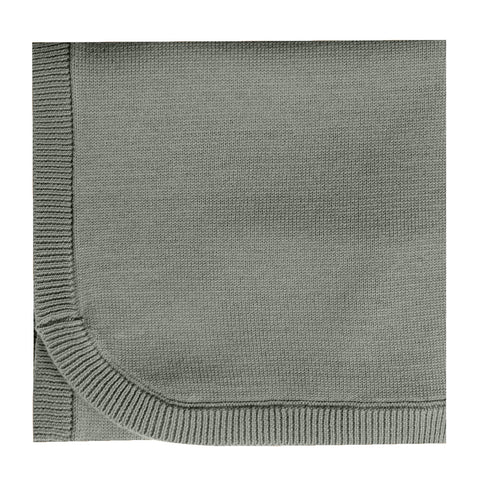 Quincy Mae Knit Baby Blanket Organic Cotton eucalyptus dark green