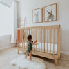 lifestyle_4, dadada White + Natural Soho 2-in-1 Convertible Crib to Toddler Bed Furniture beige