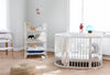 lifestyle_1, stokke oval sleepi crib bed mattress bundle comfortable evolvable height adjustable