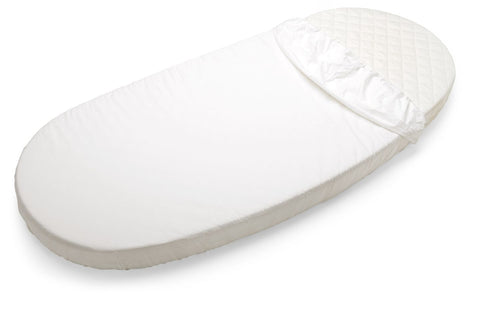 stokke oval sleepi junior fitted crib sheet cotton white