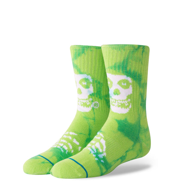 Stance Classic Toddler Boys Socks pattern misfits green skull tie dye