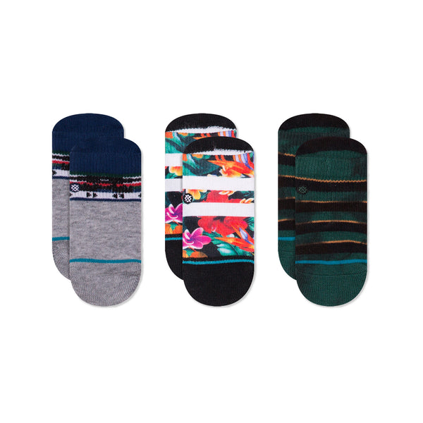Stance Infant Baby Boys Sock Box Set pattern 3 pack seapunk floral pendleton design green grey blue red purple white