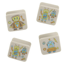 Sugarbooger Clip & Stick Magnets Retro Robot