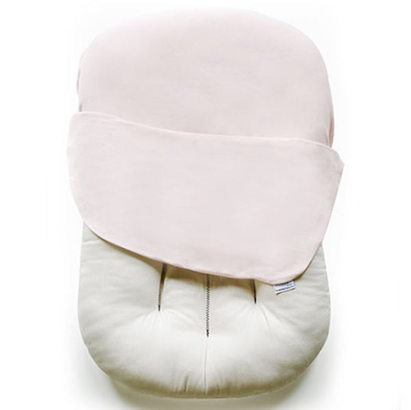 Snuggle Me 100% Organic Cotton Baby and Infant Lounger Set sugar plum light pink