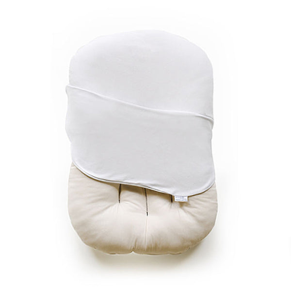 Outlet Snuggle Me Organic Baby and Infant Lounger frost light white co-sleeper
