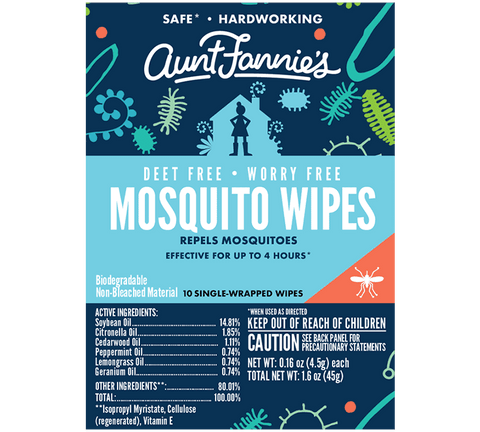 Aunt Fannies Mosquito Wipes