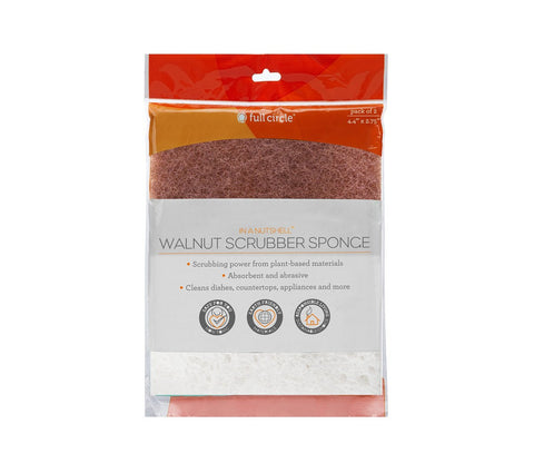 Full Circle Walnut Scrubber and Sponge Combo