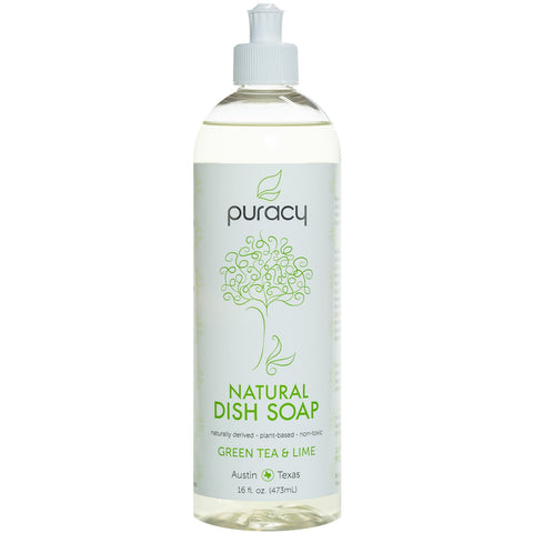 Puracy Natural Dish Soap Green Tea & Lime