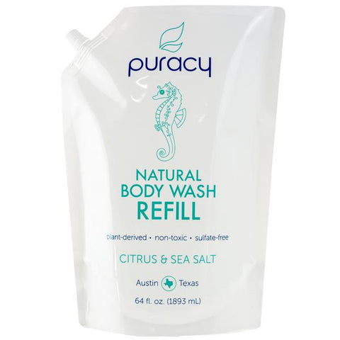Puracy Natural Body Wash 16oz and 64oz Refill