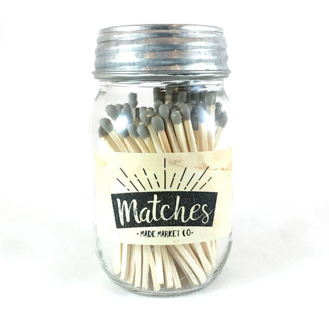 Gray Mason Jar Matches