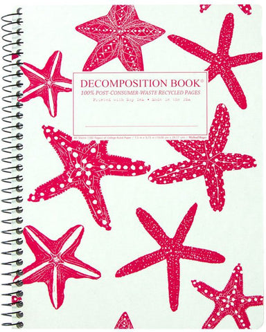 Recycled Notebook | 100% Post Consumer Waste | Starfish Decomposition Book