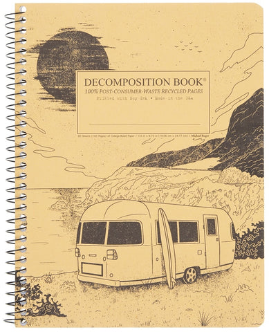 Recycled Notebook | 100% Post Consumer Waste | Big Sur Decomposition Book