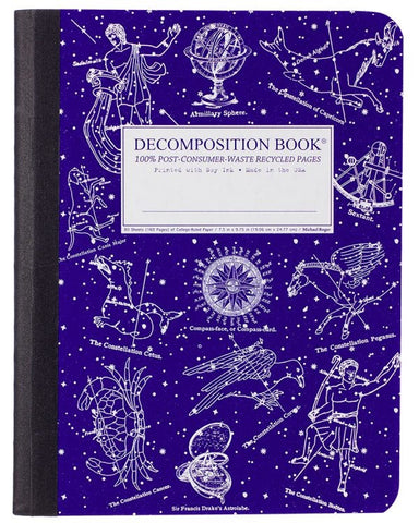 Recycled Notebook | 100% Post Consumer Waste | Celestial Decomposition Book