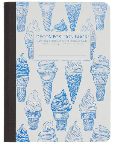 Recycled Notebook | 100% Post Consumer Waste | Soft Serve Decomposition Book