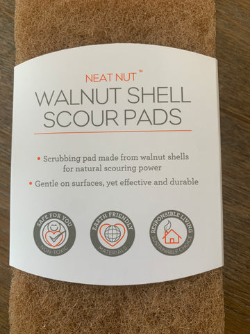 Full Circle Walnut Shell Scour Pads 3-pack