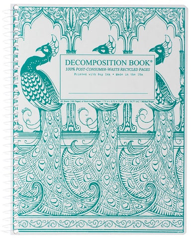Recycled Notebook | 100% Post Consumer Waste | Peacocks Decomposition Book
